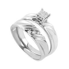 10 Karat White Gold and Diamond Bridal Set EN1-01403W10