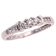 10 Karat White Gold Diamond Band Engagement Wedding Ring