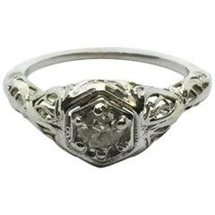 10 Karat White Gold Diamond Engagement Ring