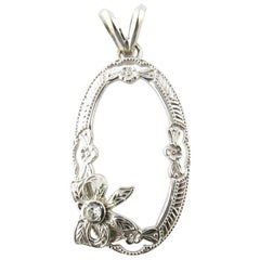 10 Karat White Gold Diamond Pendant