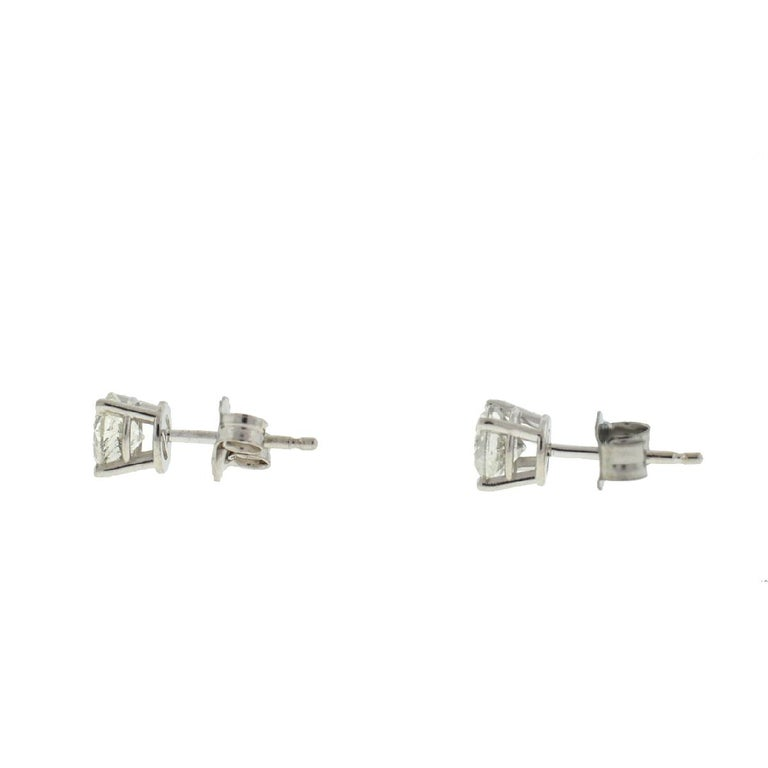 Company-N/A Style-Diamond Stud Earrings Metal-10k White Gold  Stones-Diamonds Approx. .75  Cts TW Weight-.78 G IncludesEarrings Only