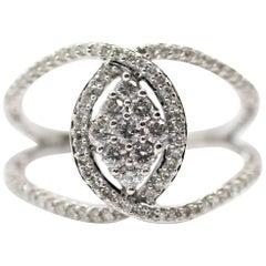 10 Karat White Gold Diamond Twist Ring