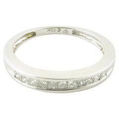 10 Karat White Gold Princess Cut Diamond Wedding or Anniversary Band