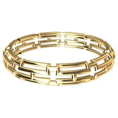 10 Karat Yellow Gold 20 Rectangles Bangle