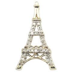 10 Karat Yellow Gold and Diamond Eiffel Tower Charm