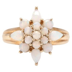 10 Karat Yellow Gold and Opal Star Statement / Cocktail Ring