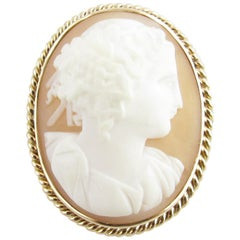 10 Karat Yellow Gold Cameo Brooch