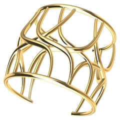 10 Karat Yellow Gold Cuff Bracelet