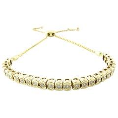 10 Karat Yellow Gold Diamond Bracelet