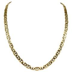 10 Karat Yellow Gold Italian Gucci Mariner Link Chain Necklace