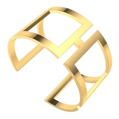 10 Karat Yellow Gold Rectangle Cuff Bracelet