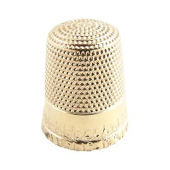 10 Karat Yellow Gold Thimble