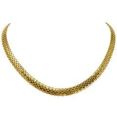 10 Karat Yellow Gold Vintage Bismark Link Chain Necklace