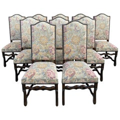 10 Late 19th Century Os De Mouton Chairs