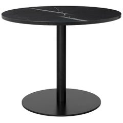1.0 Lounge Table, Round, Round Black Base, Large, Marble
