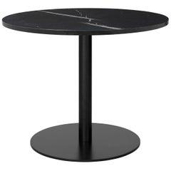 1.0 Lounge Table, Round, Round Black Base, Large, Marble
