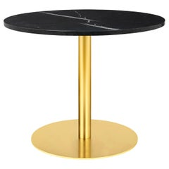 1.0 Lounge Table, Round, Round Brass Base, Large, Marble