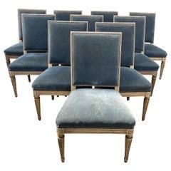 10 Maison Jansen Louis XVI Style Dining Chairs