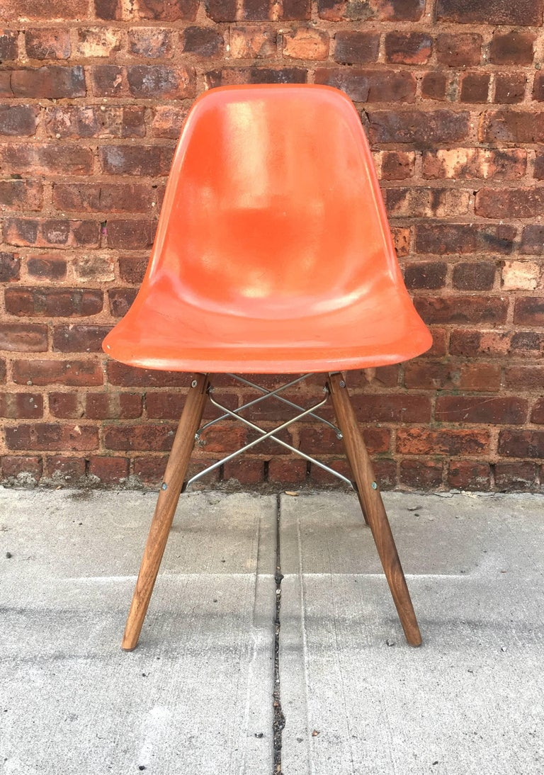 Fiberglass 10 Multicolored Herman Miller Eames Dining Chairs For Sale