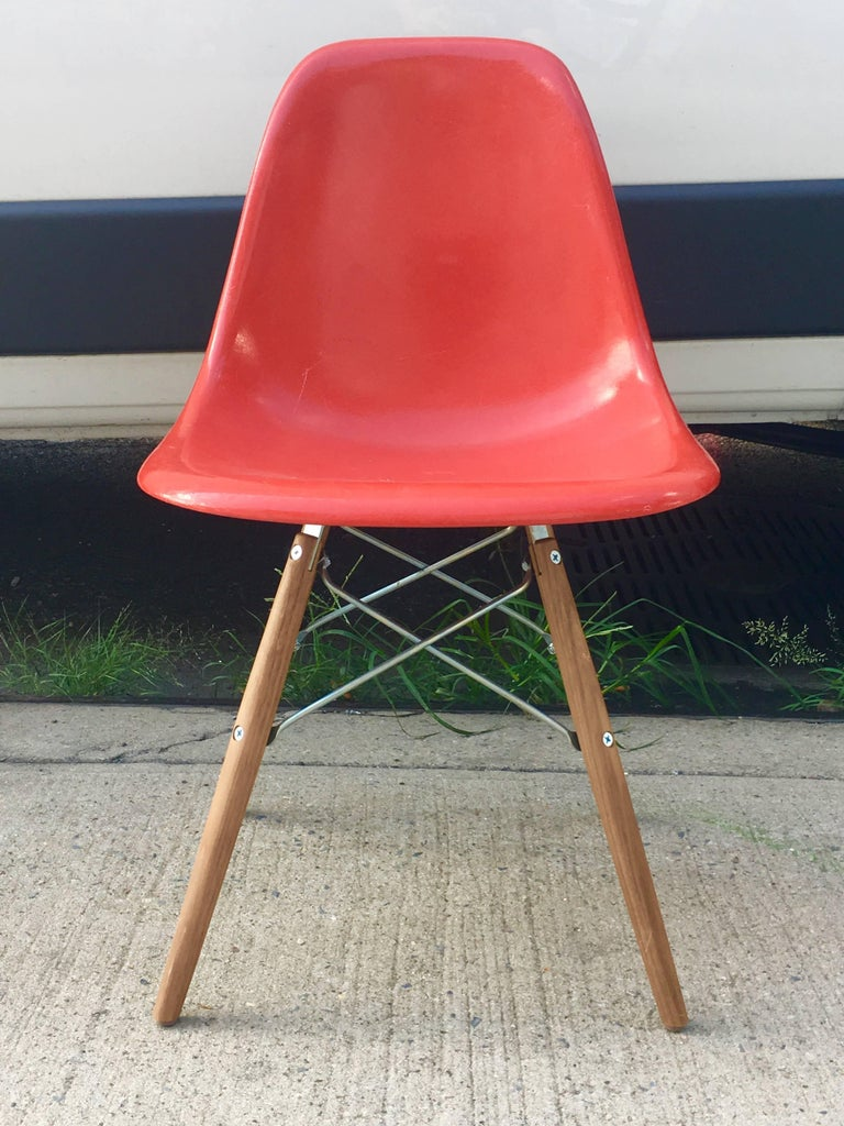 10 Multicolored Herman Miller Eames Dining Chairs For Sale 2