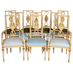 10 Painted Italian Dining Chairs Maple & Co