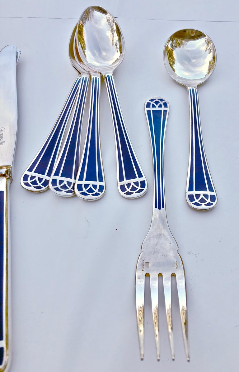 "10 Piece Ultimate Brush Collection: 10 Piece Set Of French Christofle ""Talisman Bleu""Chinese"