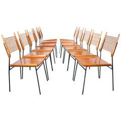 '10' Rare Midcentury Paul McCobb Planner Group Shovel Chairs #1533 Maple Iron
