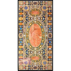 Ten-Seat Dining Table in Italian Pietre Dure Inlay Mosaic