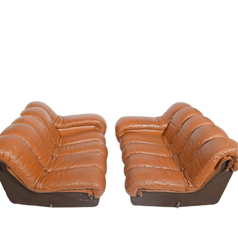 Leather 10-Section 'Non-Stop' Sofa by Riva, Ulrich Vogt for De Sade Imported by Stending For Sale