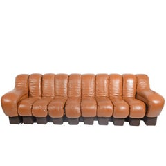 10-Section 'Non-Stop' Sofa by Riva, Ulrich Vogt for De Sade Imported by Stending