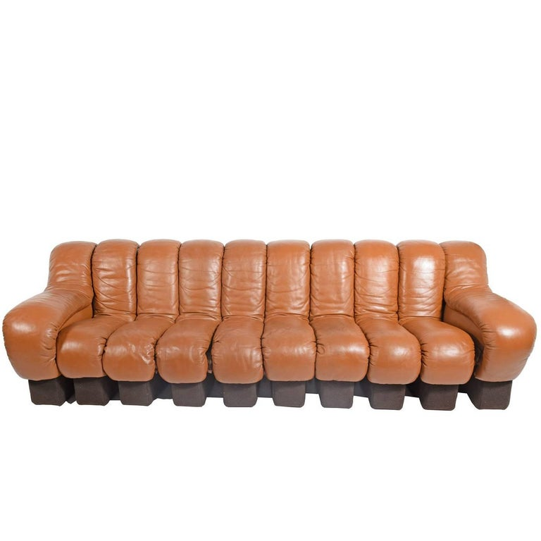 10-Section 'Non-Stop' Sofa by Riva, Ulrich Vogt for De Sade Imported by Stending For Sale