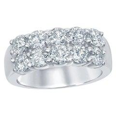 10-Stone Diamond Ring Halfway 2 Row
