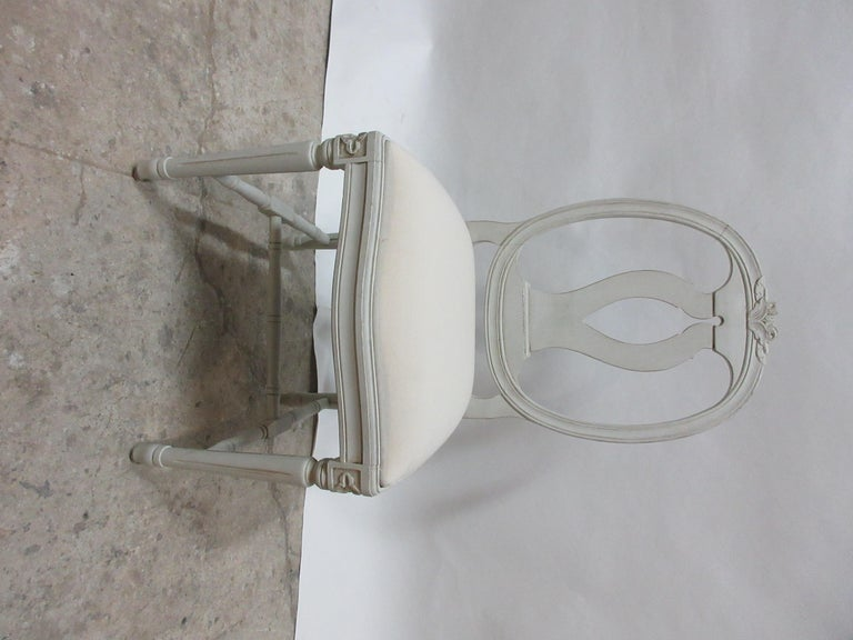 10 Swedish Gustavian Side Chairs In Distressed Condition For Sale In Hollywood, FL