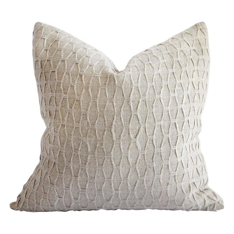 100% Belgian Natural Linen Decorative Accent Pillow For Sale