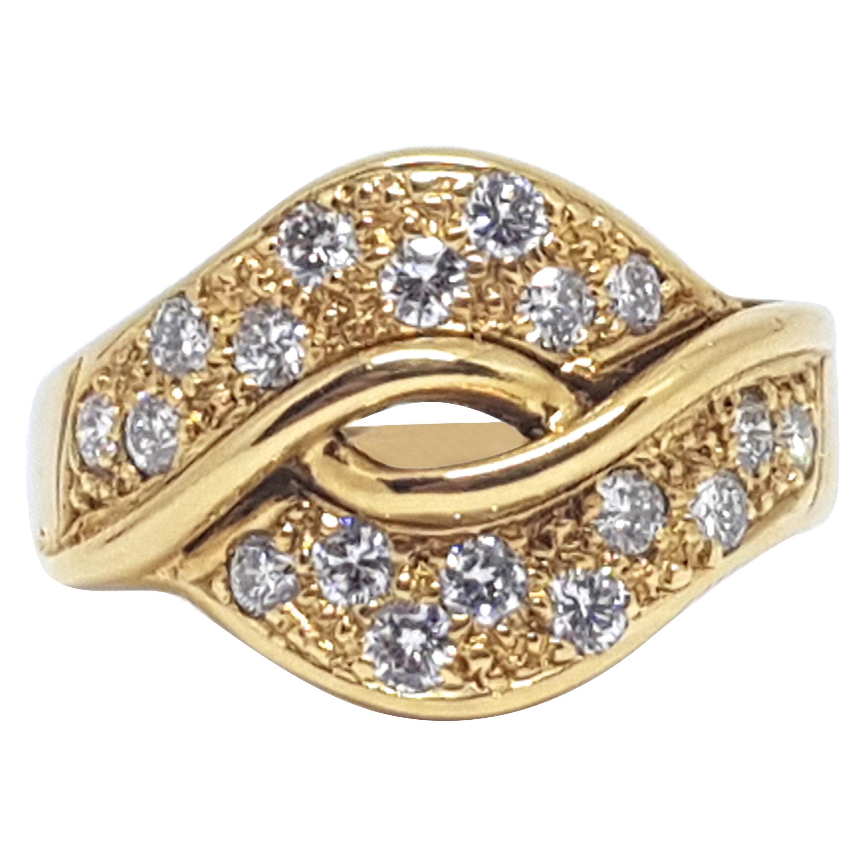 1.00 Carat 18 Karat Yellow Gold Diamond Ring