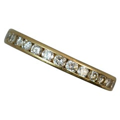1.00 Carat Diamond 18 Carat Gold Full Eternity Stack Ring