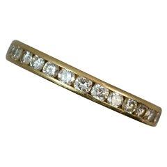 1.00 Carat Diamond 18 Carat Gold Full Eternity Stack Ring
