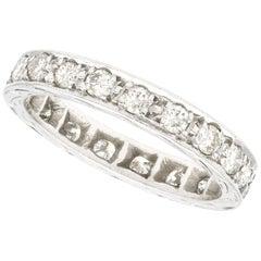 1.00 Carat Diamond and White Gold Full Eternity Ring