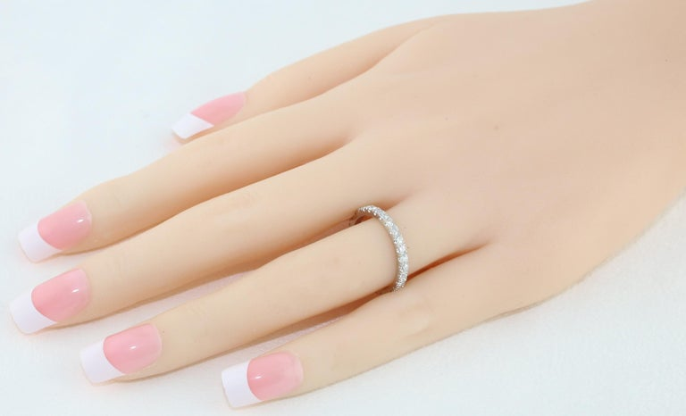Contemporary 1.00 Carat Diamond Eternity Platinum Band Ring For Sale