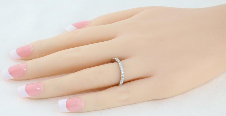 Round Cut 1.00 Carat Diamond Eternity Platinum Band Ring For Sale