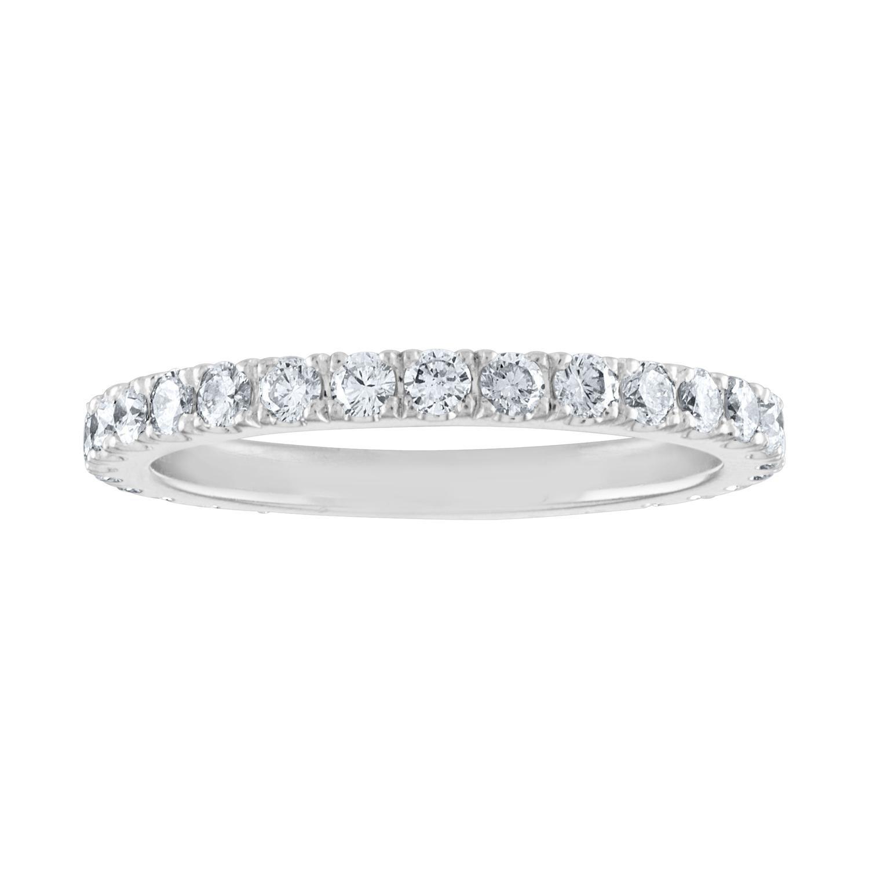 1.00 Carat Diamond Eternity Platinum Band Ring