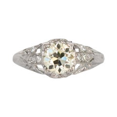 1.00 Carat Diamond Platinum Engagement Ring