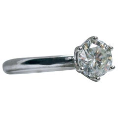 1.00 Carat Diamond Solitaire in 14 Karat White Gold