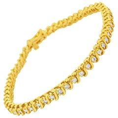 1.00 Carat Diamond Tennis Bracelet in 14 Karat Yellow Gold