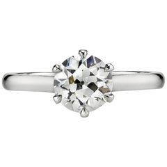 Handcrafted Blaire Old European Cut Diamond Ring by Single Stone