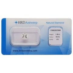 1.00 Carat HRD Certificate White Princess Cut Diamond
