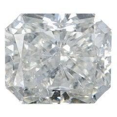 1.00 Carat Loose Diamond, Radiant Cut GIA Graded I1 J Solitaire