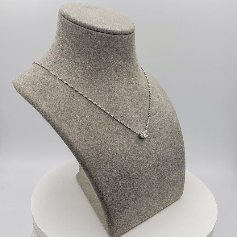 Women's 1.00 Carat Marquise Cut Diamond Solitaire Pendant Necklace For Sale