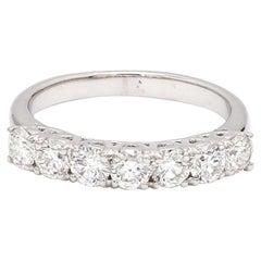 1.00 Carat Round Brilliant Cut Diamond 18 Karat White Gold Wedding Ring