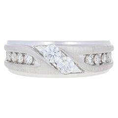 1.00 Carat Round Brilliant Diamond Ever Us Men's Wedding Band 14 Karat Gold Ring